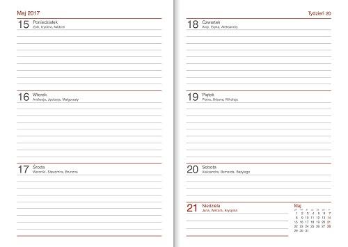 kalendarze nauczyciela układ tygodniowy